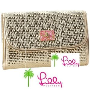 Lilly Pulitzer Metallic Spring Fling Clutch NWOT!